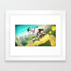 A ride with Son Goku Framed Art Print