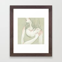 Her. Framed Art Print