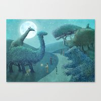 Topiary Park - Night Canvas Print