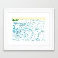 BIG WAVE Framed Art Print