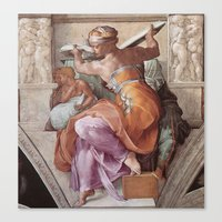 The Libyan Sybil Sistine Chapel Ceiling by Michelangelo Canvas Print