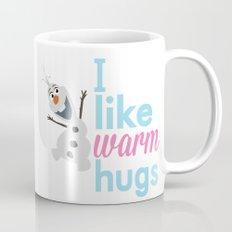 i like warm hugs smiling olaf.. frozen Mug