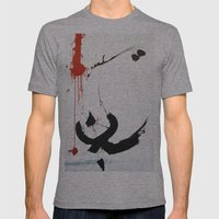 128712 Mens Fitted Tee Athletic Grey SMALL