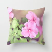 Soft Pinkness Throw Pillow