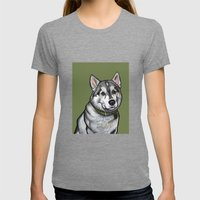 Aspen The Husky Womens Fitted Tee Tri-Grey SMALL