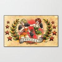 Knockout Canvas Print