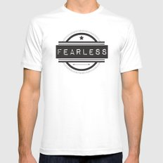 #Fearless SMALL Mens Fitted Tee White
