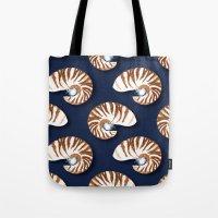 Nautilus - Indigo Tote Bag