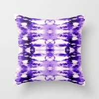 Tie Dye Purples Throw Pillow