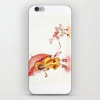 Rainy Day - Girl In A Ye… iPhone & iPod Skin