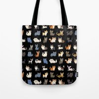 CATS On Black Tote Bag