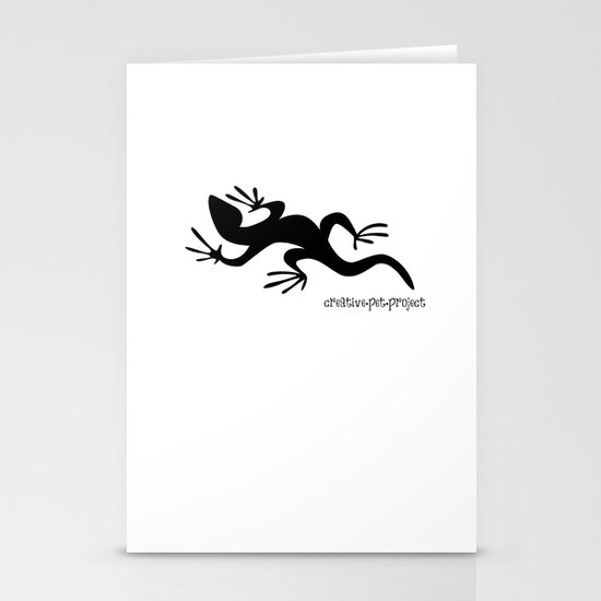 Lizard Stationery Card