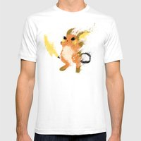 #026 Mens Fitted Tee White SMALL