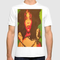 Erykah Badu  SMALL White Mens Fitted Tee