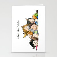 teen wolf Stationery Cards featuring Pack McCuddle - Teen Wolf by aredblush