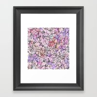 Scattered Floral Framed Art Print