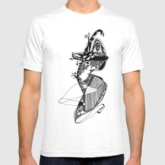 Dance with me - Emilie Record Mens Fitted Tee SMALL White