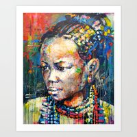 She - Portrait Of A Beau… Art Print