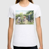 Vineyard Watercolor Wine… Womens Fitted Tee Ash Grey SMALL