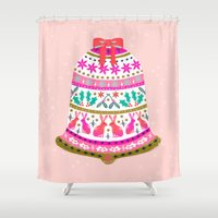 Holiday Bell by Andrea Lauren  Shower Curtain