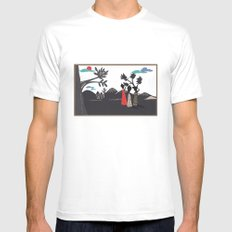 Africa life White SMALL Mens Fitted Tee