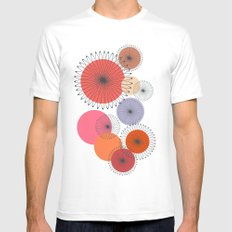 Spiral Flowers SMALL White Mens Fitted Tee
