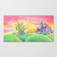 Land of Ooo Canvas Print