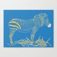 Stripped Zebra Canvas Print