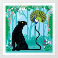 The Peacock And The Pant… Art Print