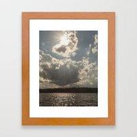 afternoon at lake Framed Art Print
