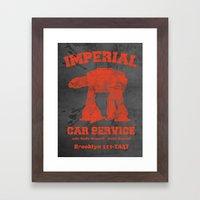 Imperial Car Service (Safety Orange) Framed Art Print