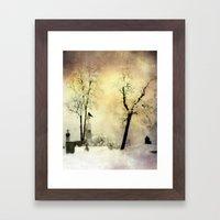 Burnt Sky Framed Art Print