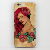 iPhone & iPod Skin featuring Bright Like A Diamond by Lady Macabre Art