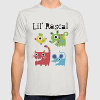 Lil' Rascal - Critters Mens Fitted Tee Silver SMALL