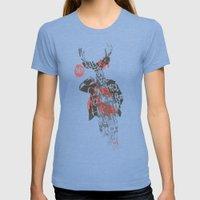 Yo! Deer Music Man Womens Fitted Tee Tri-Blue SMALL