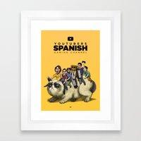 Youtubers Spanish   Gami… Framed Art Print