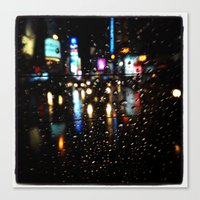 Blurry Times Square  Canvas Print