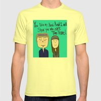 I will show you who can't time travel Mens Fitted Tee Lemon SMALL