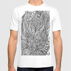 Garden of fine lines SMALL White Mens Fitted Tee