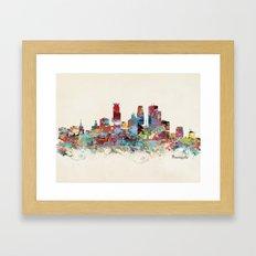 Minneapolis Minnesota skyline Framed Art Print