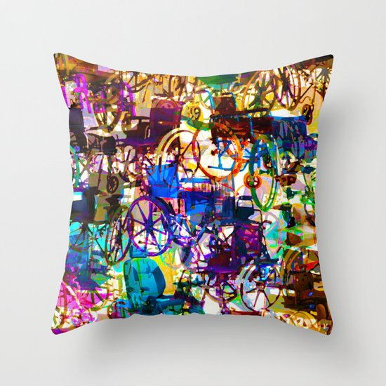 WHEELS2 Throw Pillow