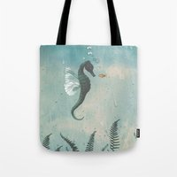 Playful seahorses Tote Bag