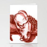 Sketchy Skull Stationery Cards