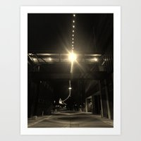 Alley Lights  Art Print