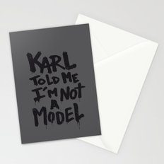 Karl told me... Stationery Cards