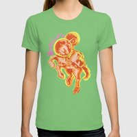 Moonicorn Womens Fitted Tee Grass SMALL