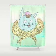 PIZZACAT I Shower Curtain