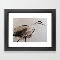 Japanese Crane Framed Art Print