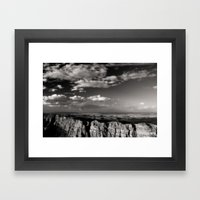 Grand Canyon - Black and White Framed Art Print