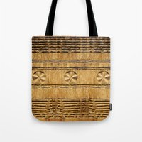 African decoration on wood Tote Bag